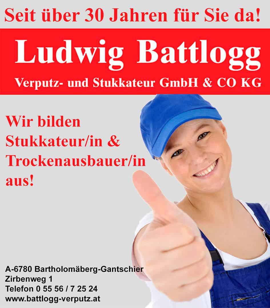 lehre24.at - Ludwig Battlogg Verputz und Stukkateur GmbH & CO KG
